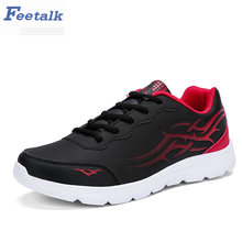 feetalk Mens Outdoor Athletic Sport Sneakers Spring And Summer Breathable Mesh Upper Lace Up Black Gray Light Running Shoes