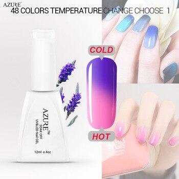 Azure Уф Цвет Изменение Температуры Гель 12 мл Длительный Soak с Гель Для Ногтей Лак Гели для Ногтей Nail Art Маникюр косметические