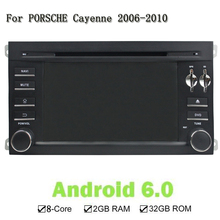 Android 6.0 Eight Core RAM 2G ROM 32G Car DVD Player Video Wifi Can Bus 2 Din GPS Navi Radio For PORSCHE Cayenne 2006-2010