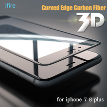 Buy 3D Curved Edge Tempered Glass iPhone 8 8plus 7plus Screen Protector Carbon Fiber Protective Glass iPhone 7 8 Plus Film for $1.79 in AliExpress store
