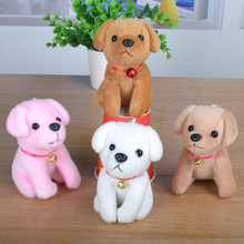 Kawaii Small Dog Soft Plush Toys Bell Dog Mini Dolls Pendant With Sucker For Children Girlfriend Gifts Kids Toy Birthday Gift(China)