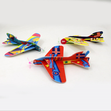 Creative Kids Toy Magic Roundabout combat aircraft foam paper airplane good baby gift free shipping WYQ