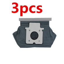 3pc Vacuum Cleaner Dust Bag Washable Cloth Bag for Panasonic MC-E7102 MC-CG461 MC-CG883 C-20E Aspiradora de polvo Bolsa de papel(China)
