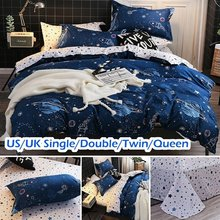 Fashion Outer Space Pattern Duvet Cover Sets with Pillow Cover Bedding Quilt Cover US/UK Single Double Queen Bedroom Decoration(China)