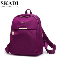 SKADI Schoolbags for Teenagers Girls Mini Backpacks Nylon Waterproof Casual Women Female Laptop Backpack for Travel Mochila(China)