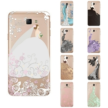 For Samsung Galaxy J5 Prime Phone Case For Galaxy ON5 2016 Transparent G5520 Ultra Thin Cover Silicon Wedding Dress Pattern