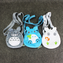 3 Styles Totoro Plush Bag My Neighbour Totoro Kawaii Anime Plush Backpack 19*18cm(China)
