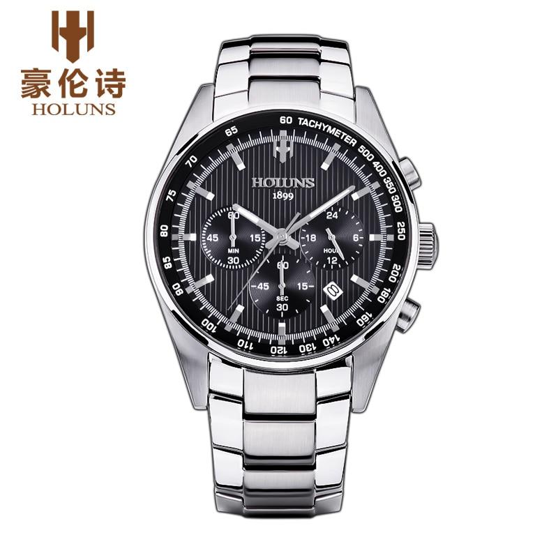 HOLUNS SS004 Watch Geneva Brand Watch mens Chronograph multifunction watch fashion quartz business leisure relogio masculino<br><br>Aliexpress