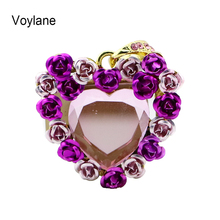 Voylane heart shaped jewelry 4gb 8gb 16gb 32gb 64gb memory stick pen drive pendrive necklace usb flash drive
