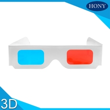 RU Free Shipping,20pcs Hony Cheap Universal Paper Anaglyph 3D Glasses Paper 3D Glasses View Anaglyph Red Cyan Red/Blue 3D Glass