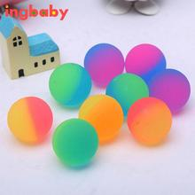 2017 New 3cm Bouncing Ball Two-color Scrub Ball Children Outdoor Toys Elastic Ball Support Wholesale Color Random ingbaby WJ1026