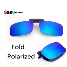 Fold Polaroid Sunglasses Clip Brand Polarized Lens Men Women Coating Clip Sun Glasses Night Vision Driving Glass with package