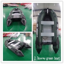 SHICHENG Brand high quality 0.9mm pvc boat/army green inflatable boat made in China(China)