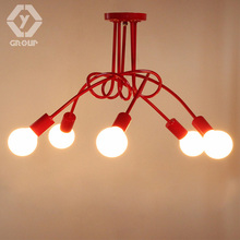 OYGROUP Simple Creative Black & white E27 ceiling lamp vintage personality modern brief led ceiling light # OY16C08-5(China)
