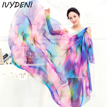 200x140cm New Large Beach Shawl  Womens Chiffon Wrap Pareo Sarong Dress Beach Bikini Scarf Beach Cover Up Scarves Plus Size 2017