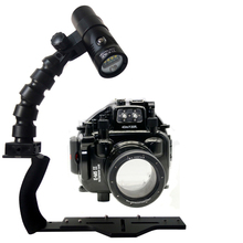 Waterproof Underwater Housing Diving Case for Olympus E-M1 E-M5 E-M5 II E-M10 Camera + Flex Arm Bracket + Diving Led Video Torch