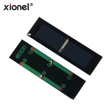Xonel Mini Small 0.5V 250MA Polycrystalline Epoxy Solar Panel Module Solar Cell Kits DIY Toy 65*20*3MM(China)