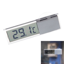 Digital Thermometer Osculum Type Celsius Fahrenheit LCD Temperatures Meter Suction Cup For Indoor Outdoor --M25(China)