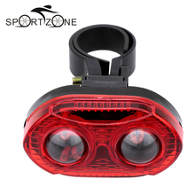 3 LED Bicycle Lights Super Bright Cycling Rear Safety Warning Lights Bike Tail Light 3 Modes Lamp For Night Riding Bicicleta