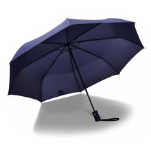 Full Automatic Rain Sun Business Umbrella Folding Umbrellas Special Offer Adults Male Since The Open Close Three Color(China)