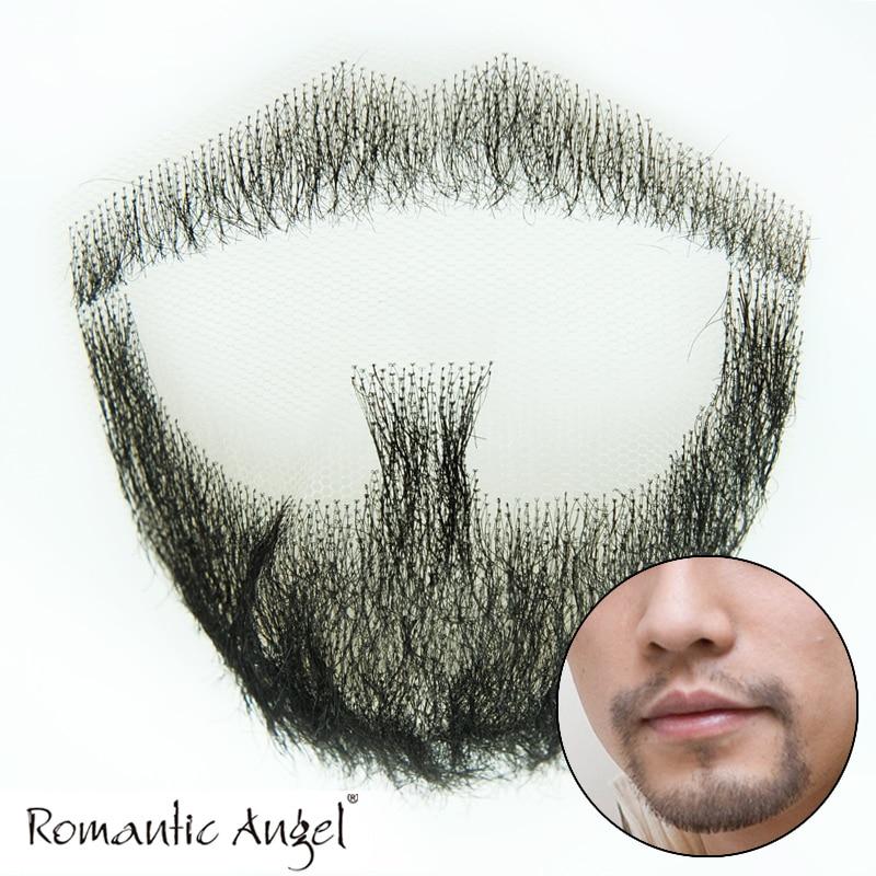 100% Human Hair Full Handmade Fake Mustache Handlebar Beard for Entertainment/Drama/Party/costume Prop False Moustache Whiskers<br><br>Aliexpress
