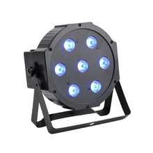 Super Bright 7x 10W RGBW LED Effect Stage Light Projector DMX512 Background Up Par Can Lighting for Wedding Party Live Concert