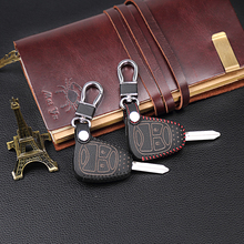 New Design Leather Key Case 2 butto for Jeep Chrysler Wrangler Guide / Dodge Cool Granville / Chrysler 300C Key Dust Collector(China)