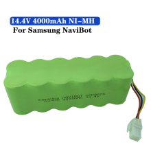 14.4V 4000mAh NI-MH Vacuum Cleaner Rechargeable battery 4.0 Ah for Samsung NaviBot SR8840 SR8845 SR8855 SR8895 VCR8845 VCR8895