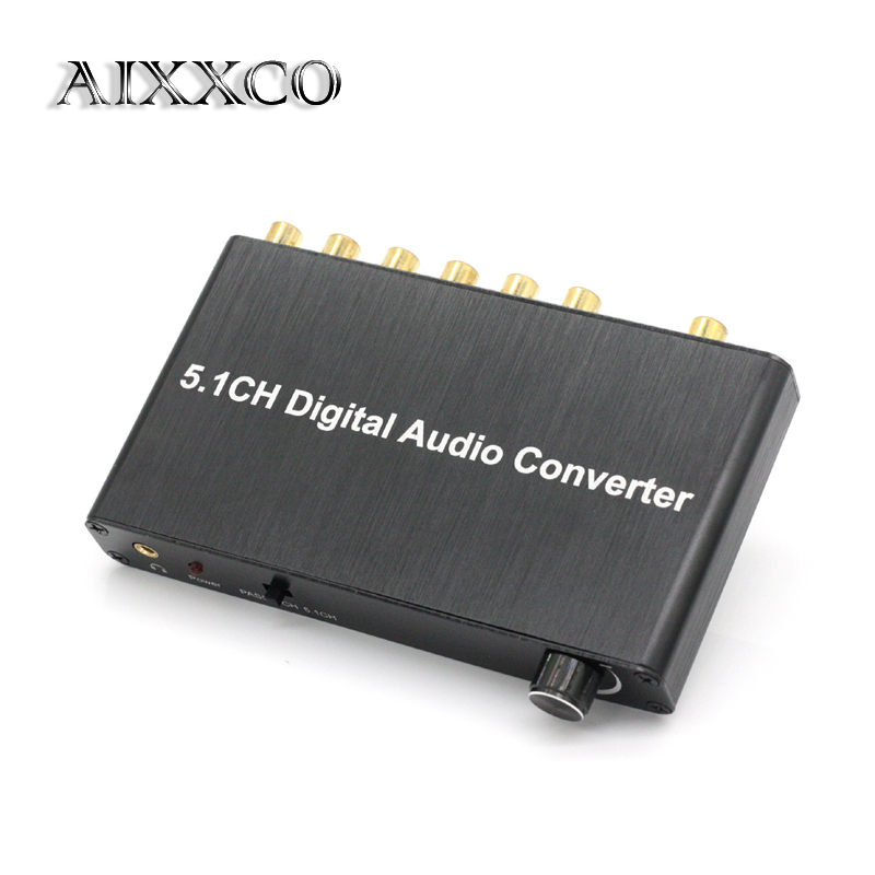 AIXXCO 5.1 decoder DTS / AC3 Dolby decoding SPDIF input to 5.1-channel digital audio converter<br>