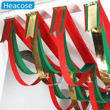 Colorful Christmas Bunting Jingle Bell Bunting Ornaments Party Home Decoration Xmas Decoration for Home Market new year