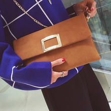 Nubuck clutches bag female women purses and handbags Faux suede leather handbag lady valentine bags women evening clutch bags(China)