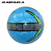 MACHUKA Men's Official Standard Size 5 Anti-slip Football PU Leather Hand sewn Training Match Soccer ball for indoor&outdoor