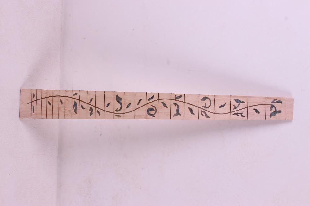 2 pcs Guitar Fretboard Fingerboard Fretless Guitar parts Dot inlaid Maple wood #10<br>