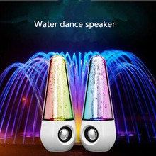 2017 LED Colorful Lights Water Dance Fountain Speaker HIFI 3D Surround Subwoofer Stereo Support Smartphone Computer Music Player