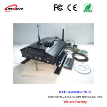 3G WiFi network monitoring host GPS positioning 8 channel video recorder bus / school bus hard disk mobile DVR(China)