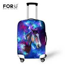 FORUDESIGNS Universe Space Luggage Protective Covers for 18-30 Inch Case Waterproof Trolley Suitcase 3D Wolf Printing Protector(China)
