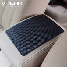 Vtear car anti-slip rubber mat auto dashboard sticky silicone pad interior car-styling stickers acccessories for lada vesta(China)