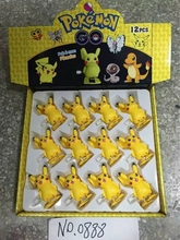 Hot sale 36Pcs/Lot ABS classic Action  go figures Walking Pikachu doll for Kids Gift