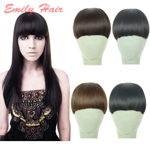 2016 Brand 1 Pcs Fashion New Clip on Front Neat Bang For Women Synthetic Hair Fringe Bangs