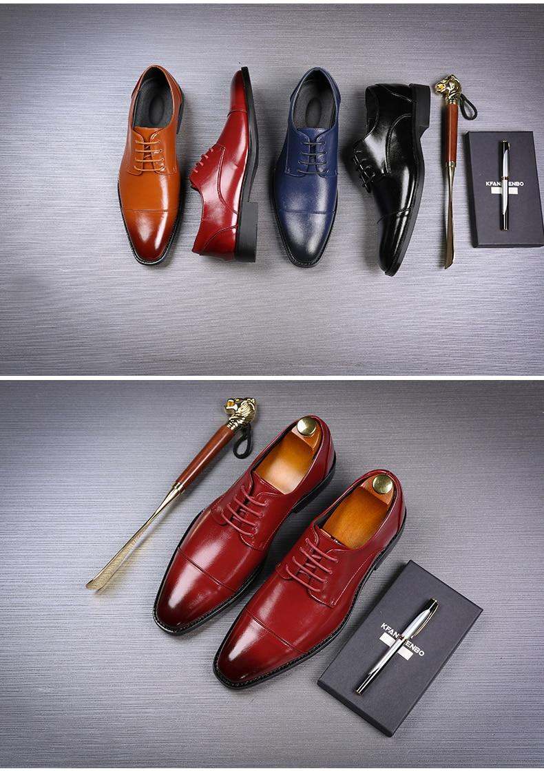 Mens Casual Shoes' Moccasin Men's Oxfords Shoes Men Winter Classic Party Wedding Men Casual Shoes Flats Formal Shoe Business New (4)