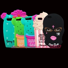 For Iphone 6 6S Plus 7 7G 7 Plus NEW 3D Silicone Cupcake Women Cereus Soft Cartoon Case Cover for Iphone 6/6s/6 6S Plus/7/7 Plus