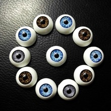60pcs 16*16mm BJD dolls eyes Plastic Eyeballs High Quality doll accessories BJD Toys Accessories Half Round Eyes Wholesale(China)