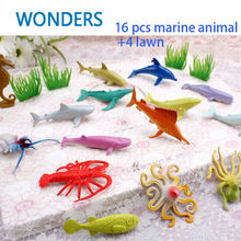 16pcs/lot Small Size Sea Life Model Anime Underwater World Fish PVC Action Figure Model Early Education Marine  Figure Set Toys