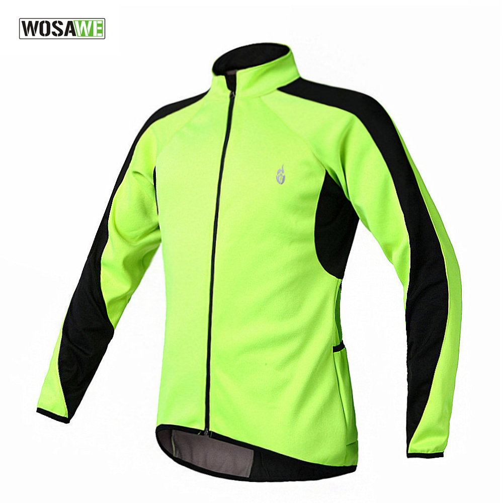 WOSAWE Thermal Cycling Jacket Winter Soft shell Coat Mountain Bike Windproof Long Sleeve Jersey Ciclismo Sport jackets<br>