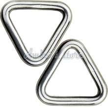 10PCS 5MM Diameter Forged AISI 316 Stainless Steel Delta Welded Ring Boat Hardware Rigging Hardware