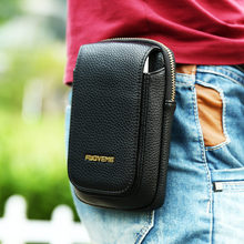 FLOVEME Retro Lichee Leather Mens Bag Travel Belt Loops Hip Bum Bag Wallet Purses Phone Pouch Case For iPhone 7 Plus Xiaomi 5S
