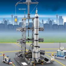 KAZI Aviation World Building Blocks, The Long March II F Rocket Launch Station Educational Toys