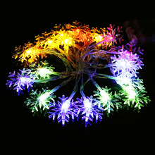 1pcs Snowflake Led String Light 10-20leds 1-2M Fairy Lantern Holiday Wedding Garden Party Christmas New Year Family gift R
