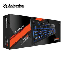 SteelSeries Apex 100 Backlit Anti-Ghosting Membrane Gaming Keyboard with 24 Keysight Blue LED Support Official Certification(China)