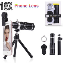 Buy 18x Zoom Optical Telescope Telephoto Lens Kit Camera Phone Lenses Tripod iPhone 8 7 Samsung S8 S8 Plus Xiaomi Huawei for $25.43 in AliExpress store